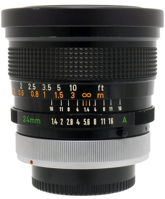 Canon FD 24mm F/1.4 S.S.C. Aspherical