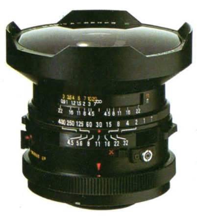 Fish-Eye Mamiya-Sekor C 37mm F/4.5