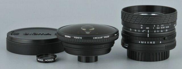 Sigma MF 8mm F/4 Filtermatic Circular Fisheye