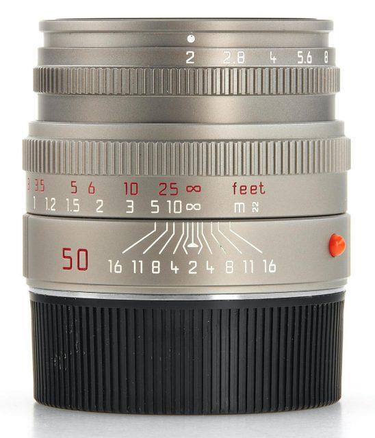 Leica Summicron-M 50mm F/2 Titanium