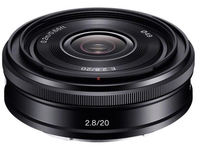 Sony E 20mm F/2.8 (SEL20F28)