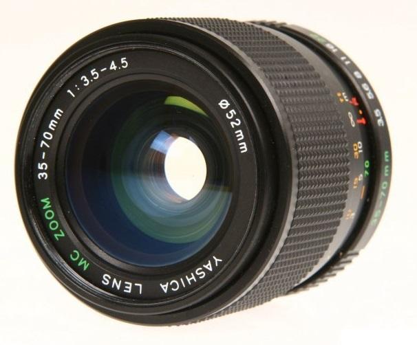 YASHICA Cámara Lente 35-70MM AF Macro 1:3 3-4.5 52mm 200AF 230AF 270AF 300AF