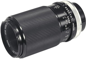 Canon FD 100mm F/4 S.C. Macro