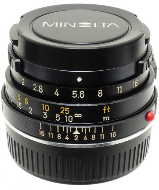 Minolta M-Rokkor 40mm F/2 (CL)